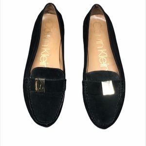 Calvin Klein Black Faux Leather Loafers